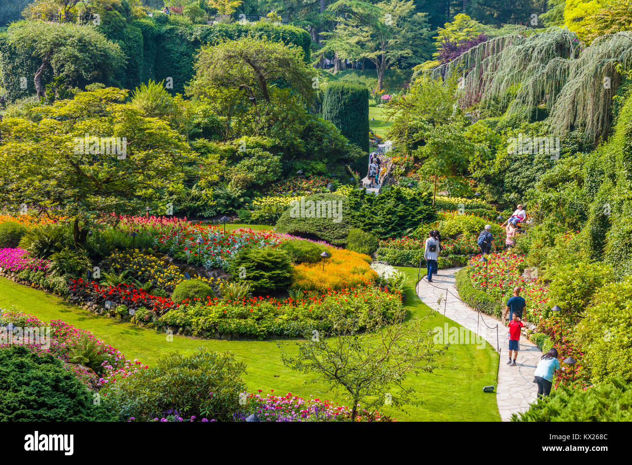 Tourists in butchart gardens in victoria british columbia canada a tourists in butchart gardens in victoria british columbia canada a national historic site of canada thecheapjerseys Images