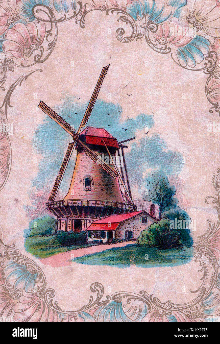 Old fashioned windmill - Stock Image