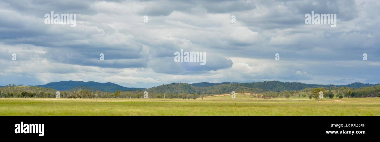 Rural scenes from country australian landscapes, Queensland, Australia - Stock Image