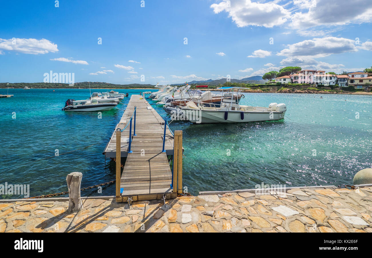 small harbour on sardinia - Stock Image