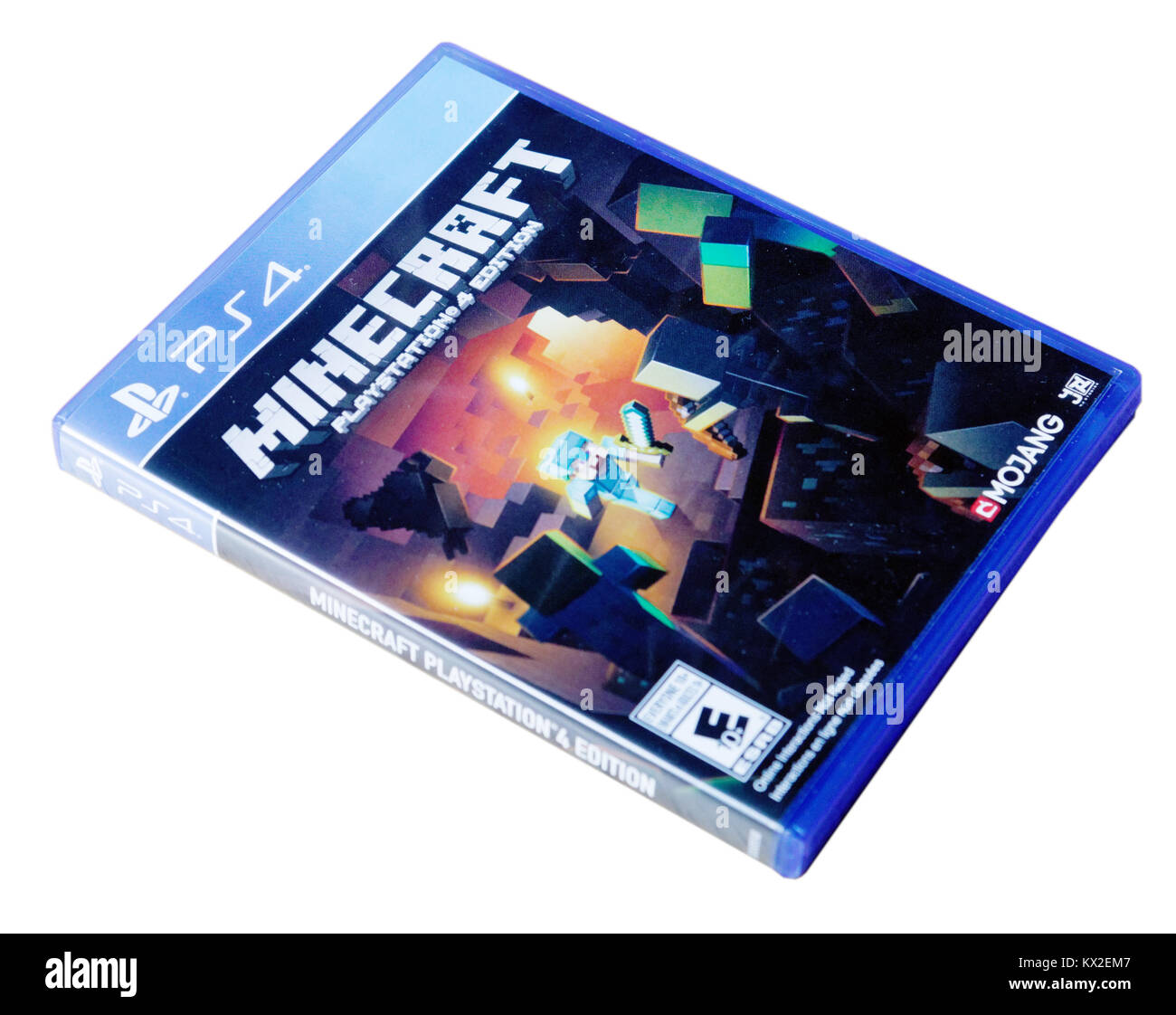 Sony PlayStation 4 game Minecraft - Stock Image
