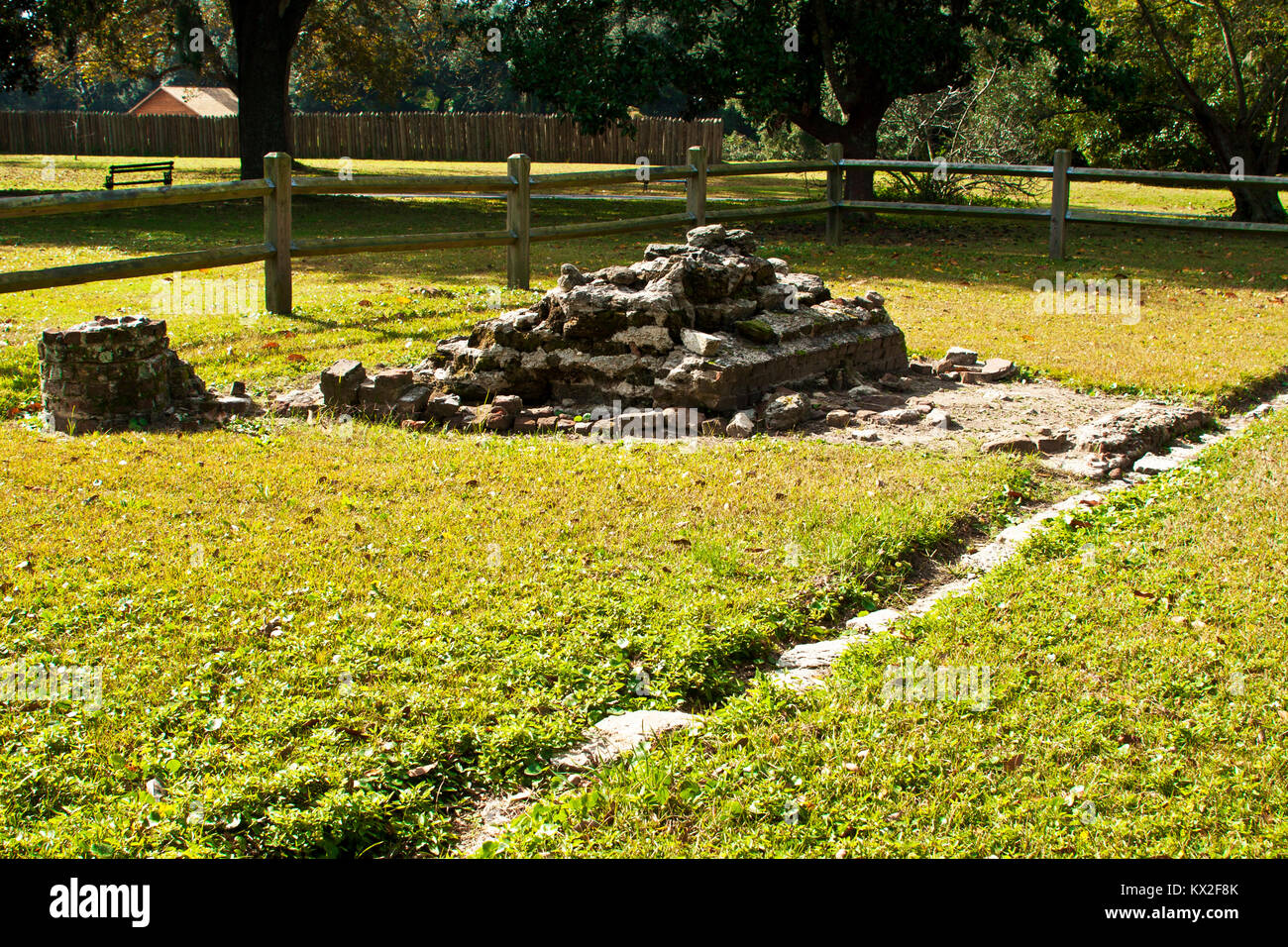 South Carolina, Charleston, Charles Towne Landing, archeological excavations, - Stock Image
