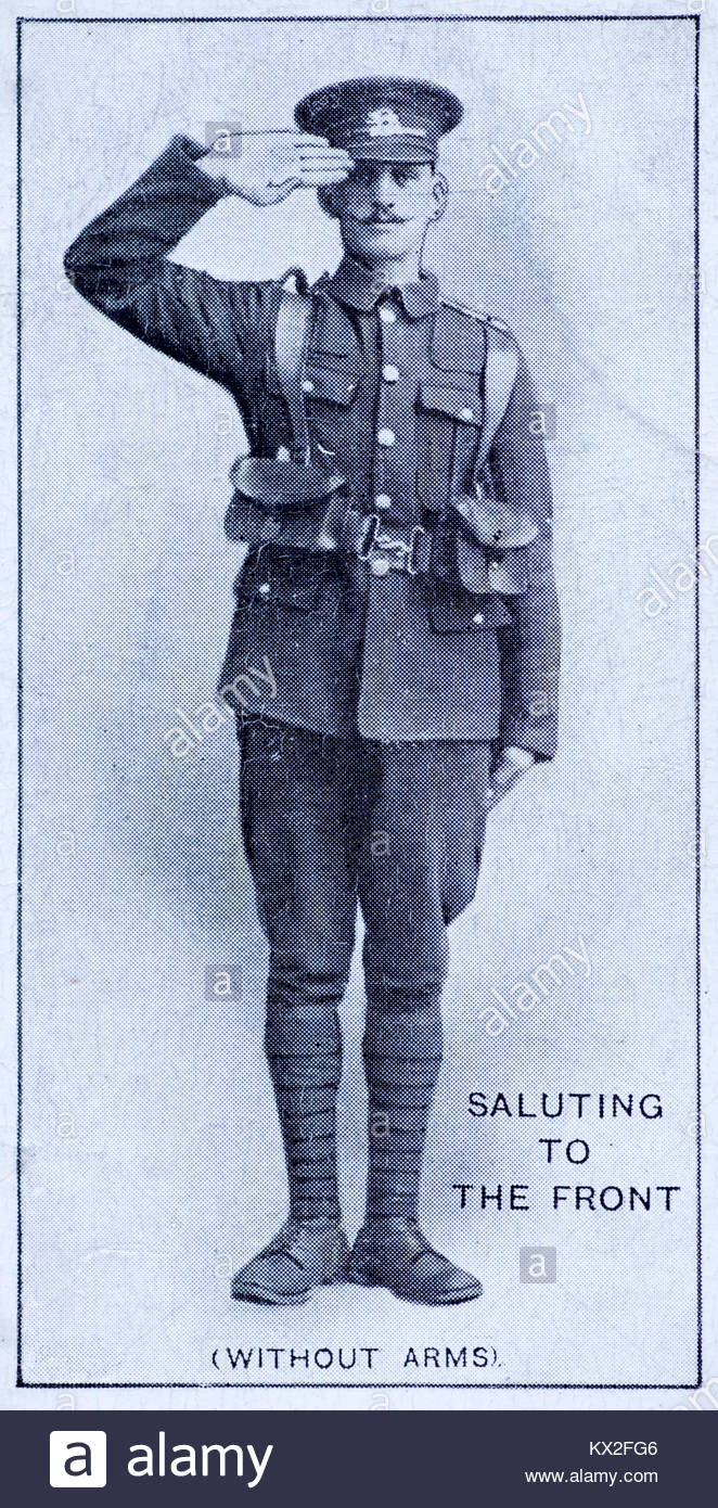 Field Signals -Saluting to the front(without arms) - Stock Image