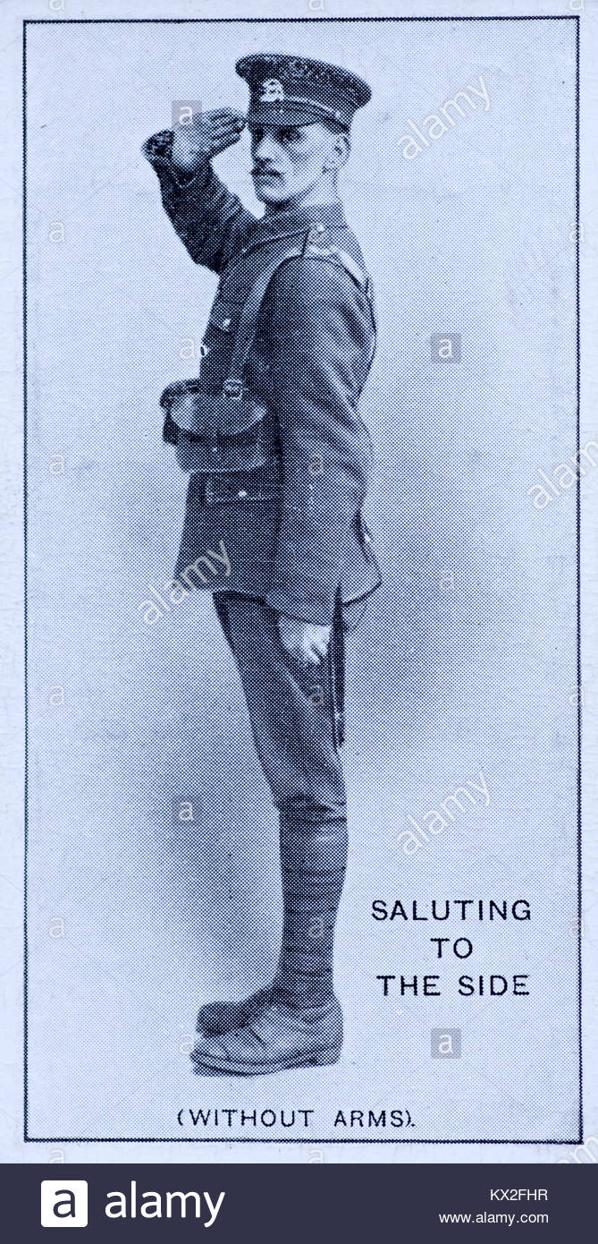 Field Signals - Saluting to the side(without arms) - Stock Image
