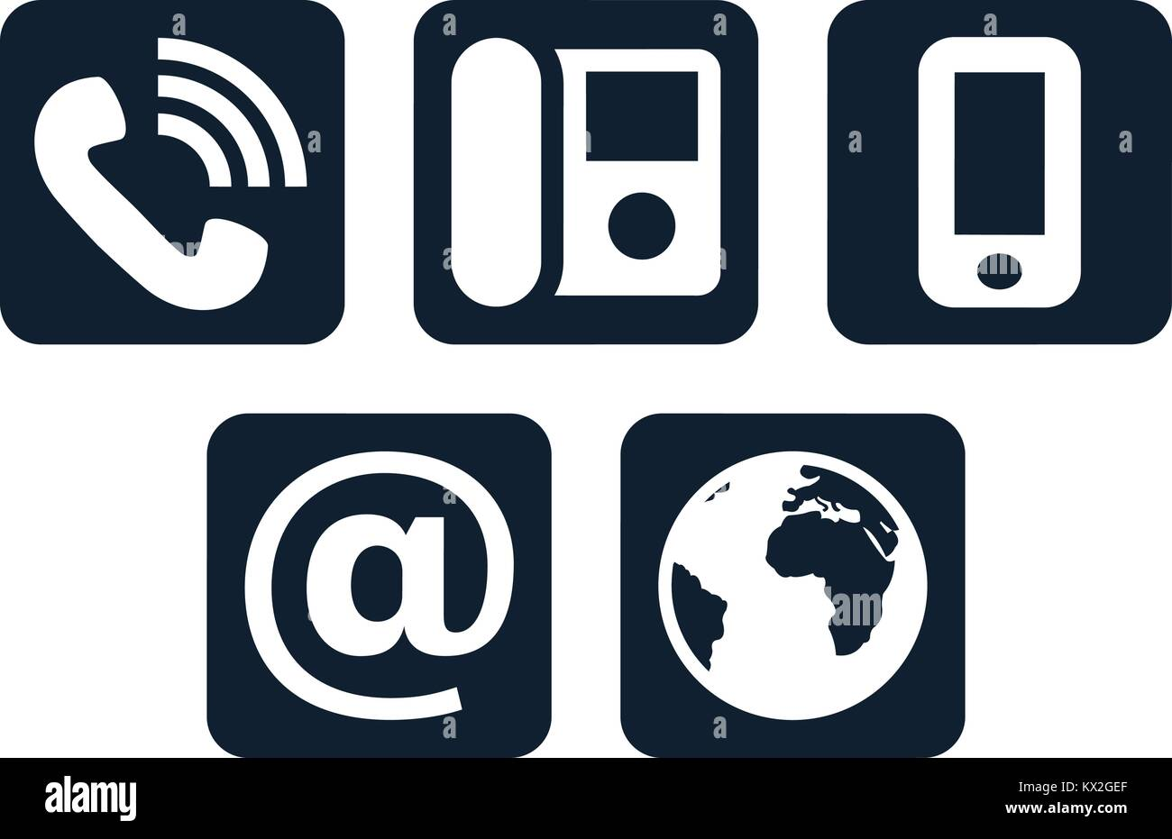 Landline Phone Stock Vector Images - Alamy