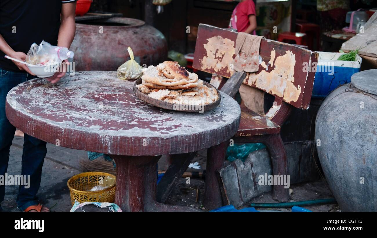 Takeo Cambodia Market Area Third World Shopping Out of the Way Places - Stock Image
