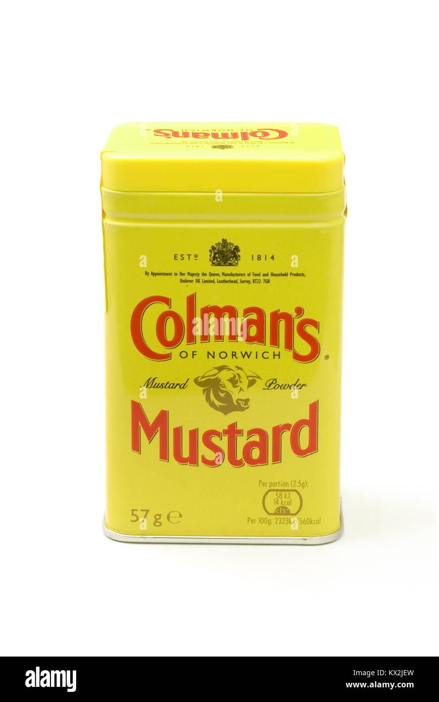 Colmans Mustard - Stock Image