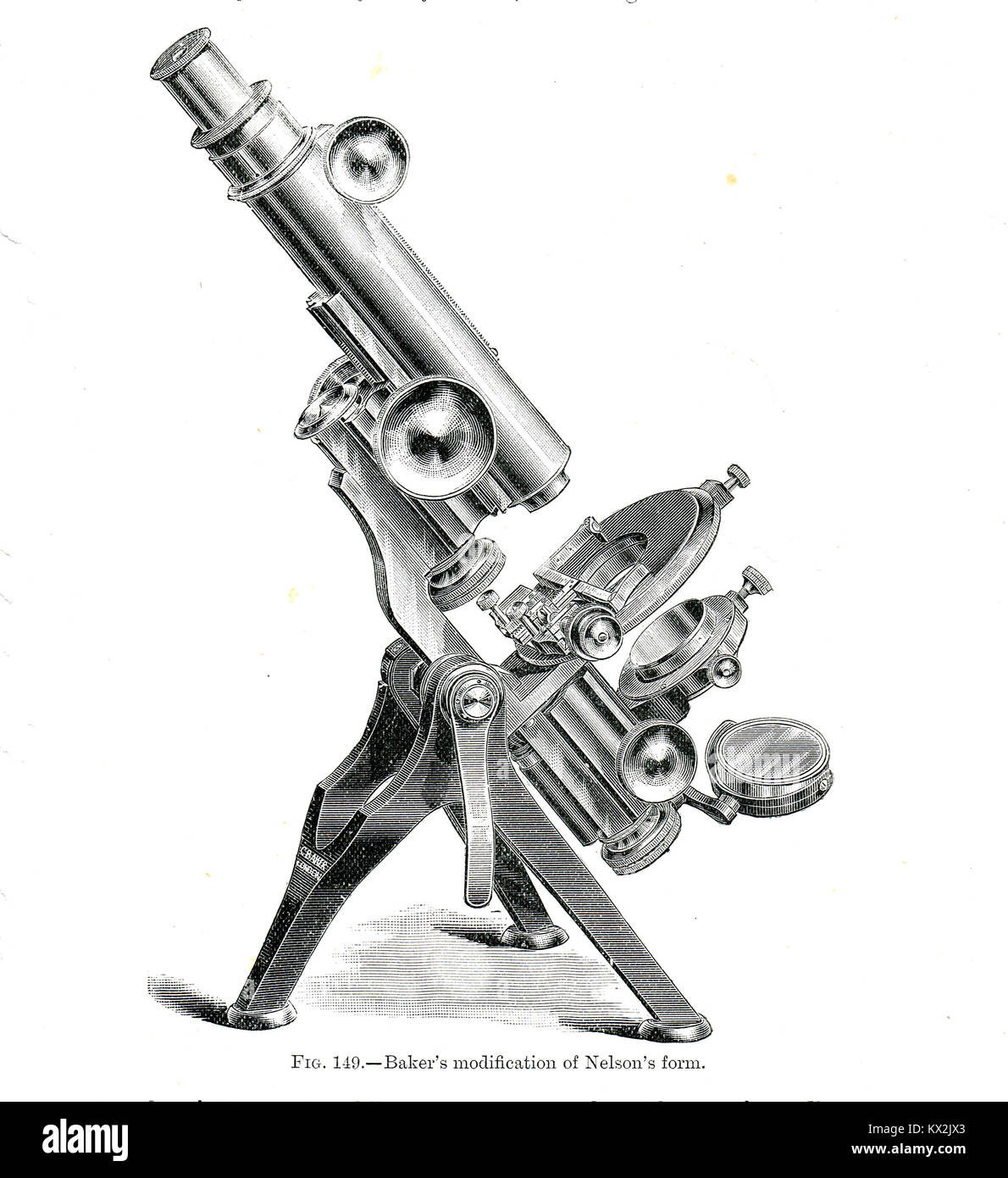 Baker's modification of Nelson's form - Stock Image