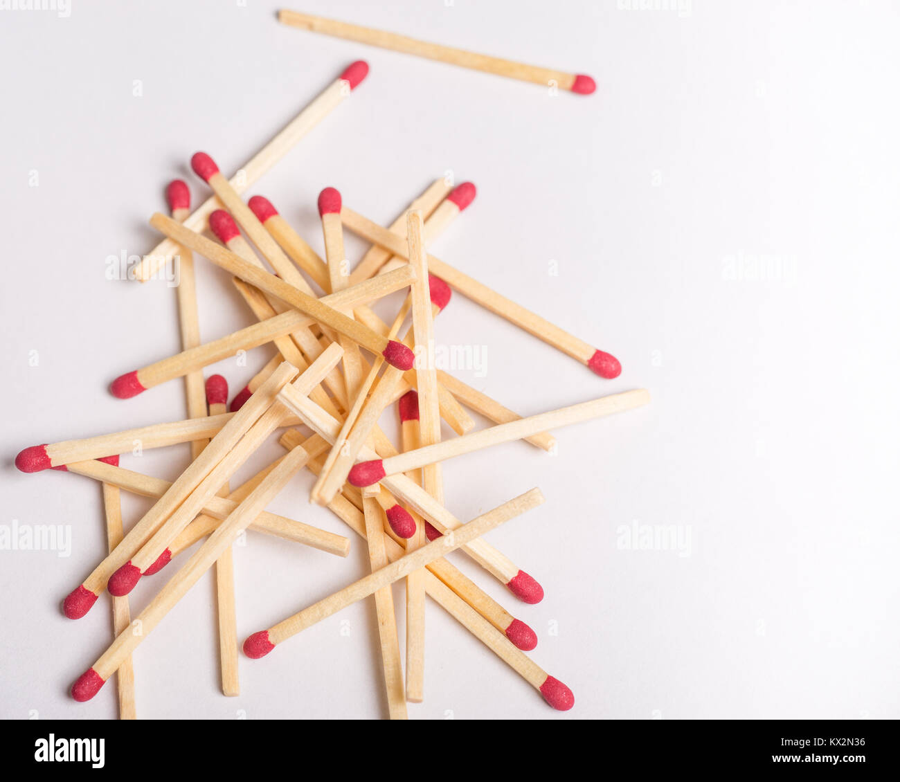 Matches isolated on white background with copy space. - Stock Image
