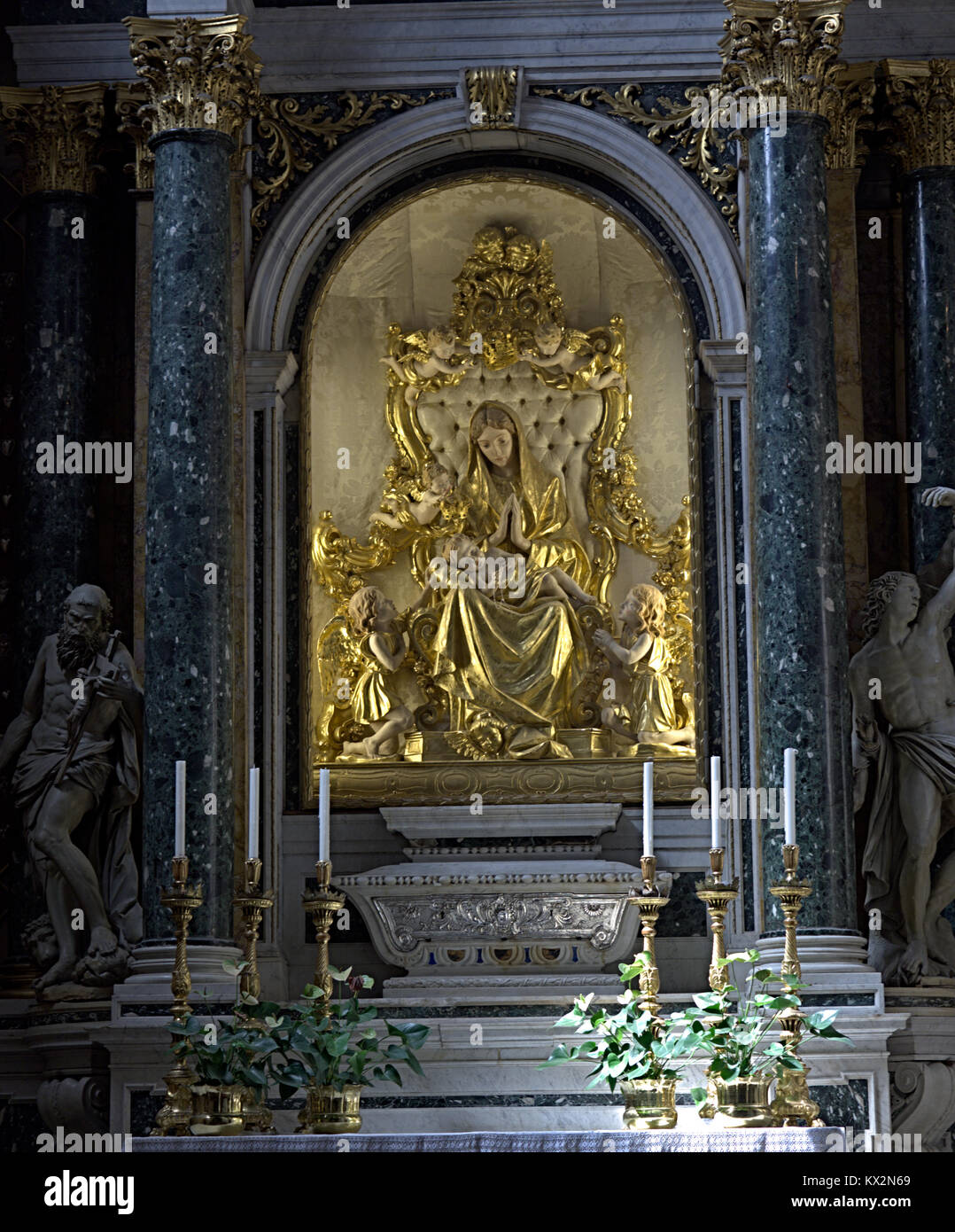 Verona Veneto Italy. Santa Maria Matricolare cathedral. Madonna del popolo chapel detail. Commissioned by canonical - Stock Image