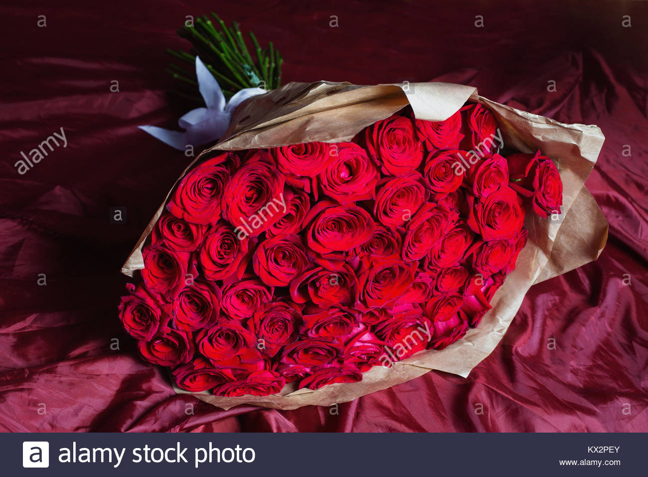 Big Beautiful Bouquet Of Red Roses Texture Colors A Gift For A