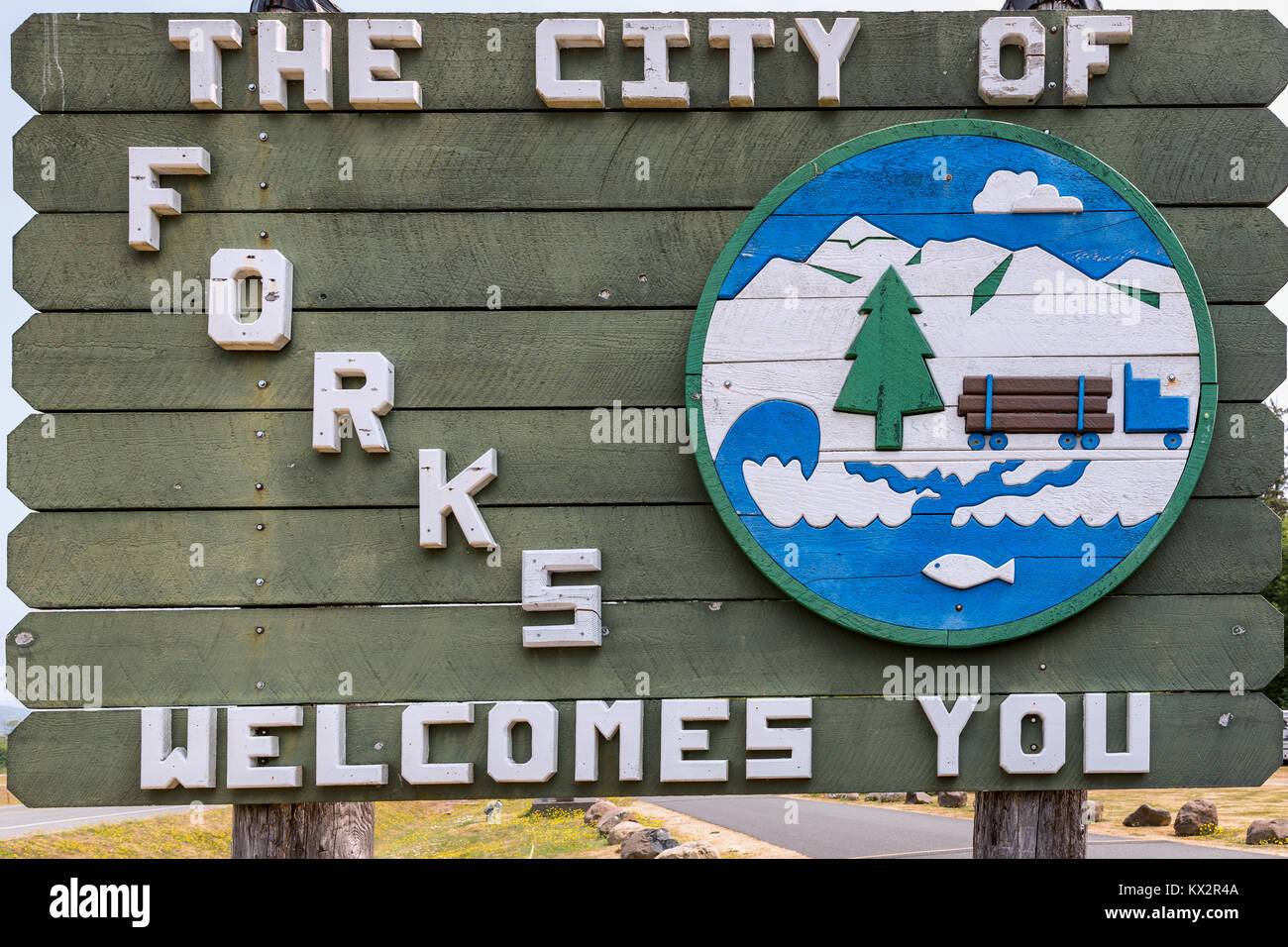 Forks, Clallam County, Washington, United States - Stock Image