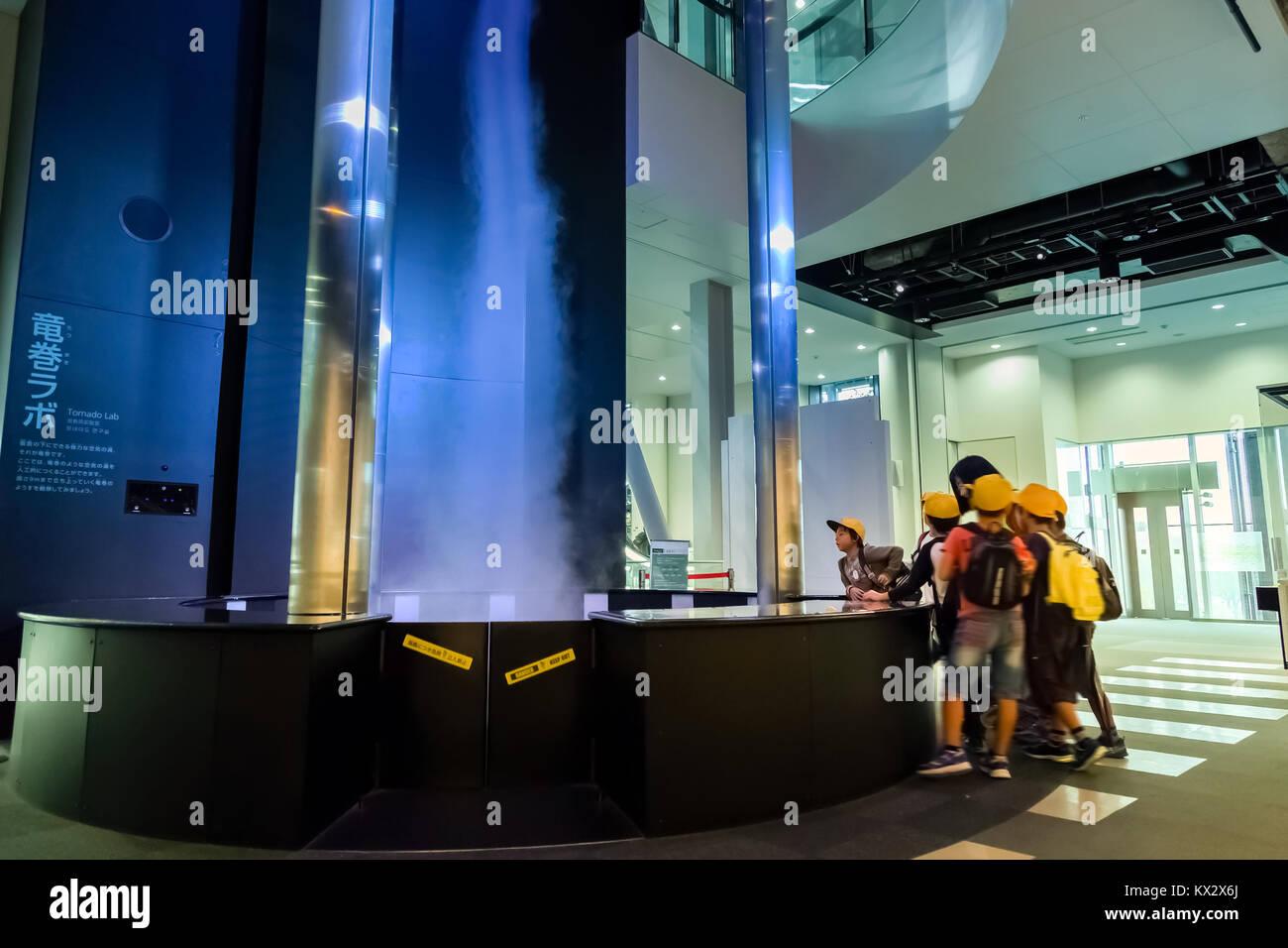 NAGOYA, JAPAN - NOVEMBER 18, 2015: Clary storm simulator displayed at Nagoya City Science Museum it portrays life Stock Photo