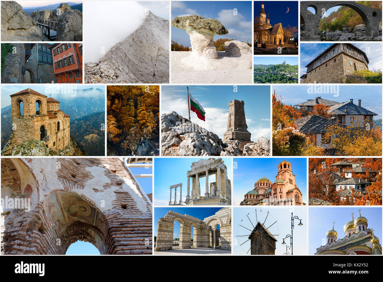 Collage Of Bulgarian Landmarks Iconic Places And Popular Travel Destinations