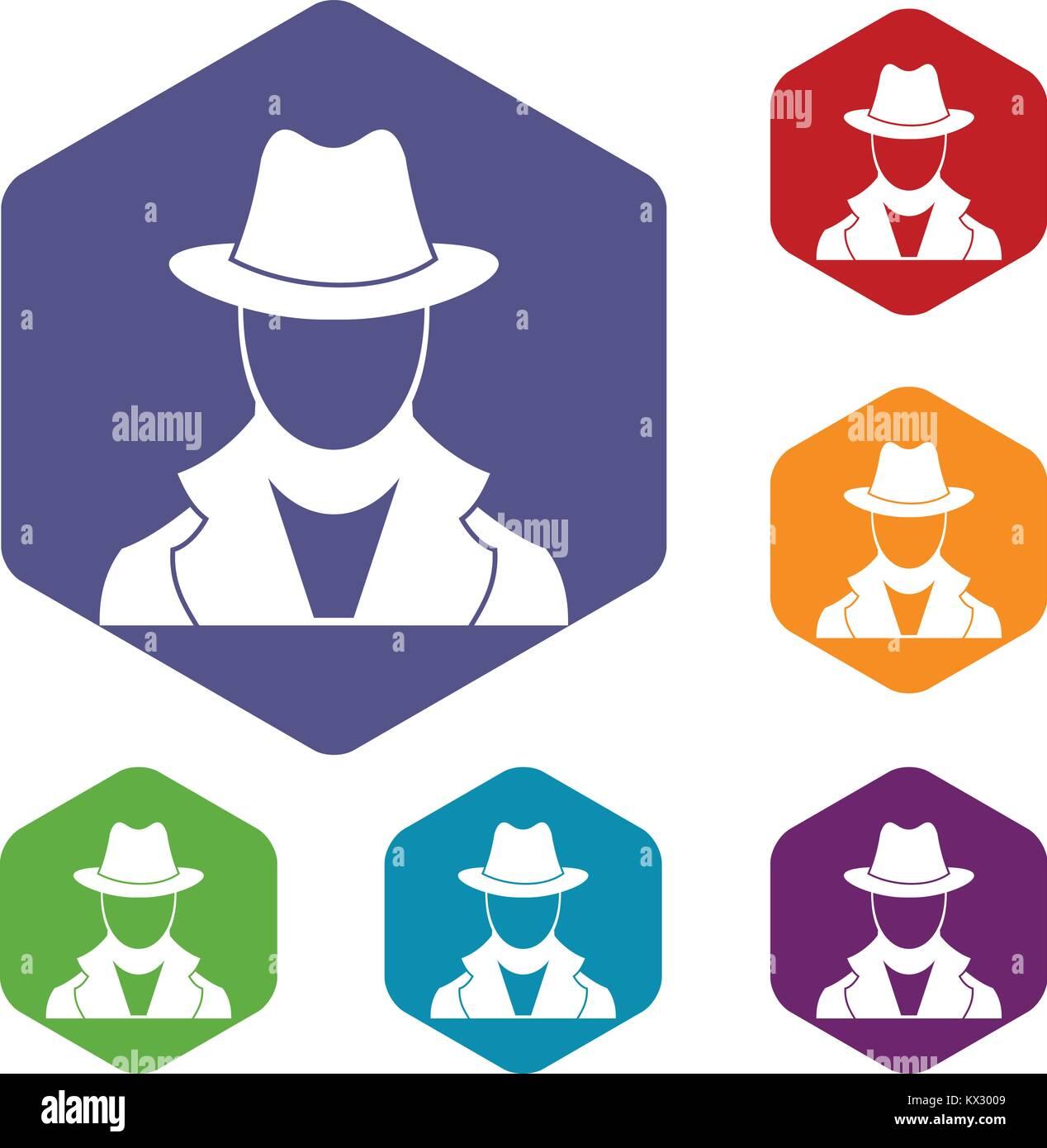 Spy icons set - Stock Vector