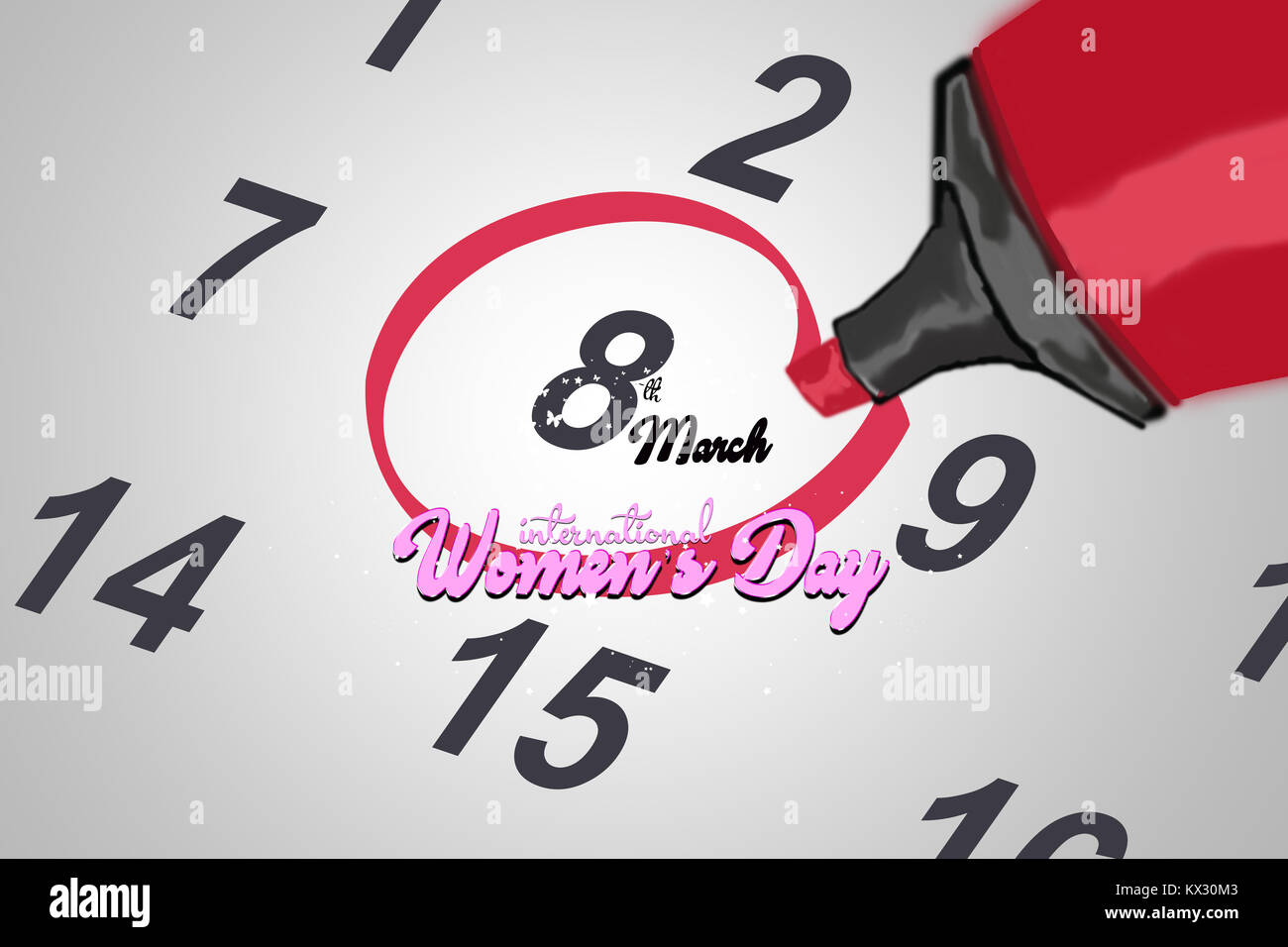 Mark on the date number 8  marked date on calendar  Women's