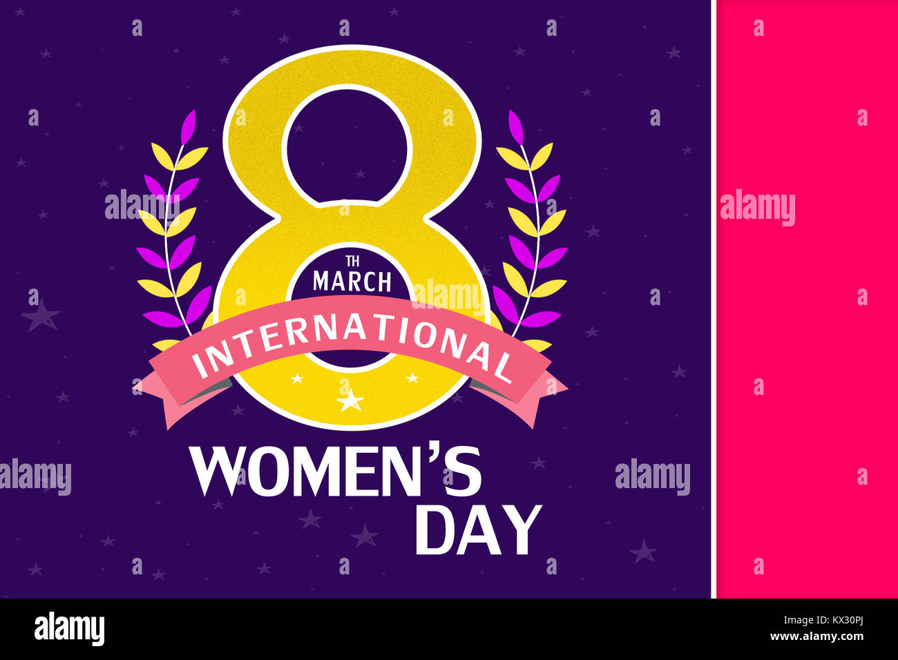 8 March Greeting Card Template International Womens Day Background