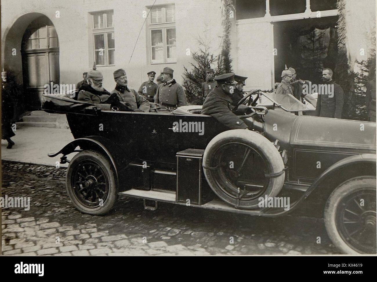 Der König von Bayern; Ludwig III., besucht das Heeresgruppenkommando in Sighișoara (Schässburg, Segesvar), - Stock Image