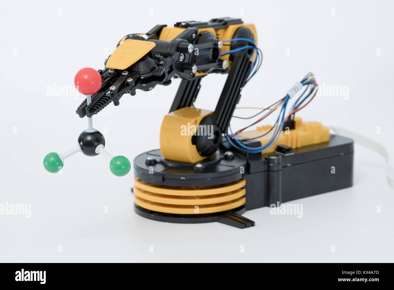 Plastic robot arm model - Stock Image