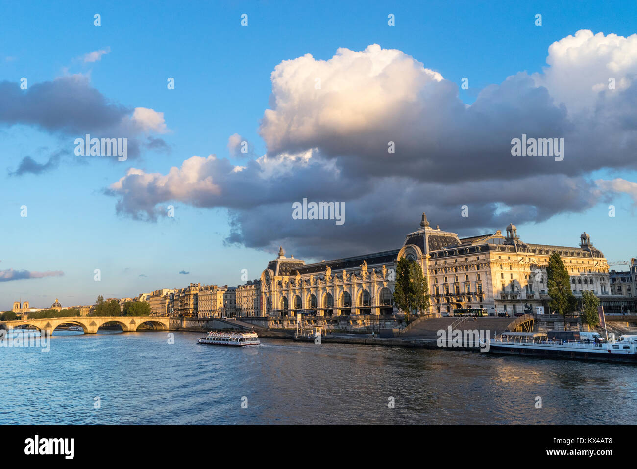 France, Paris, Musee d'Orsay, River Seine - Stock Image