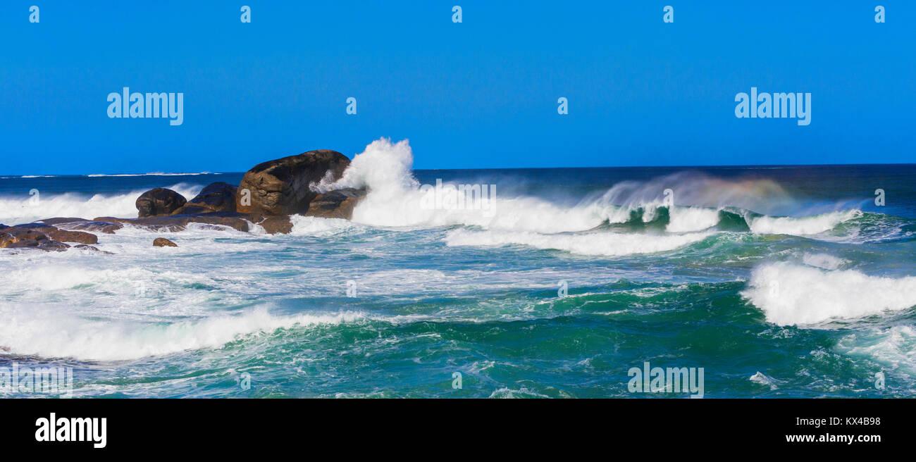 Large waves breaking at Redgate Beach near Margaret River. Western Australia - Stock Image