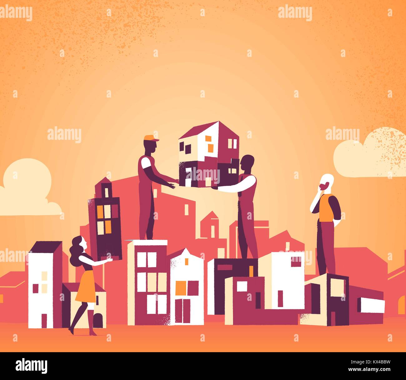We are designing our city for a better tomorrow Stock Vector