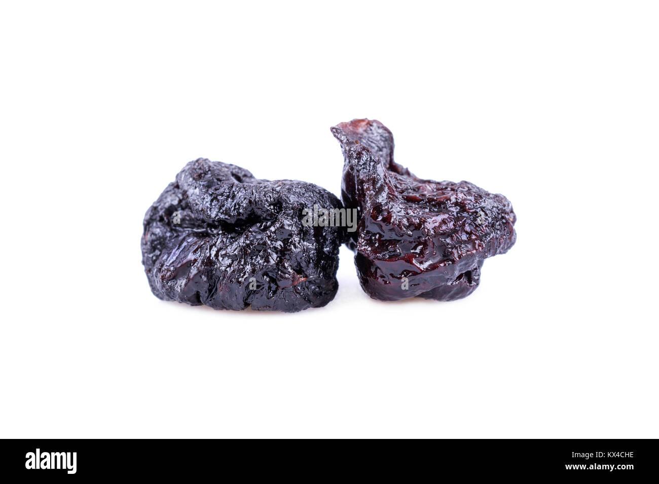 Dried prune in closeup - Stock Image