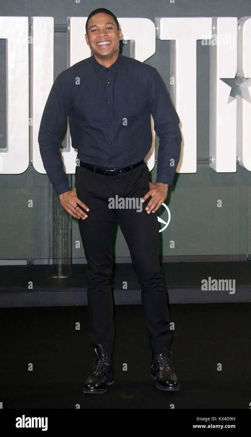 Nov 04, 2017 - Ray Fisher attending 'Justice League' Photocall, The College, Southampton Row in London, - Stock Image