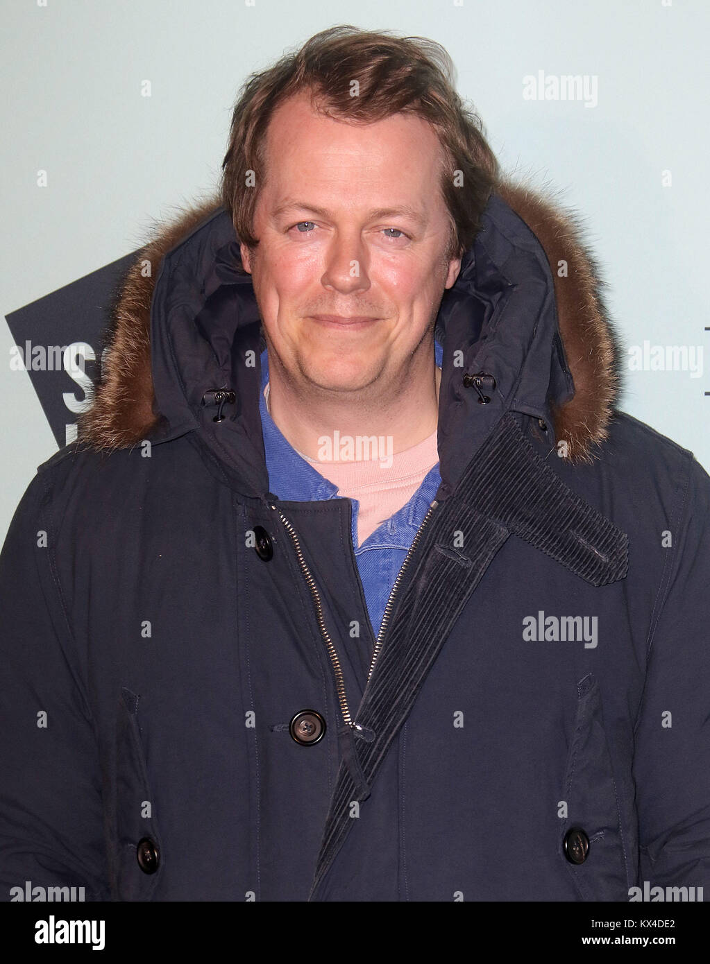 Nov 14, 2017 - Tom Parker Bowles attending Skate At Somerset House With Fortnum & Mason VIP Launch, Somerset - Stock Image