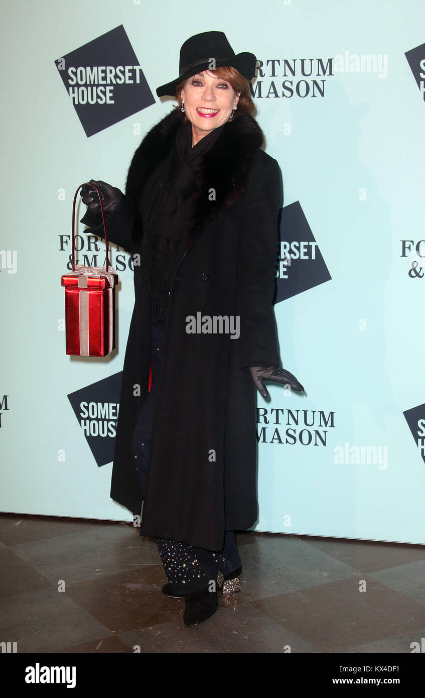 Nov 14, 2017 - Kathy Lette attending Skate At Somerset House With Fortnum & Mason VIP Launch, Somerset House - Stock Image