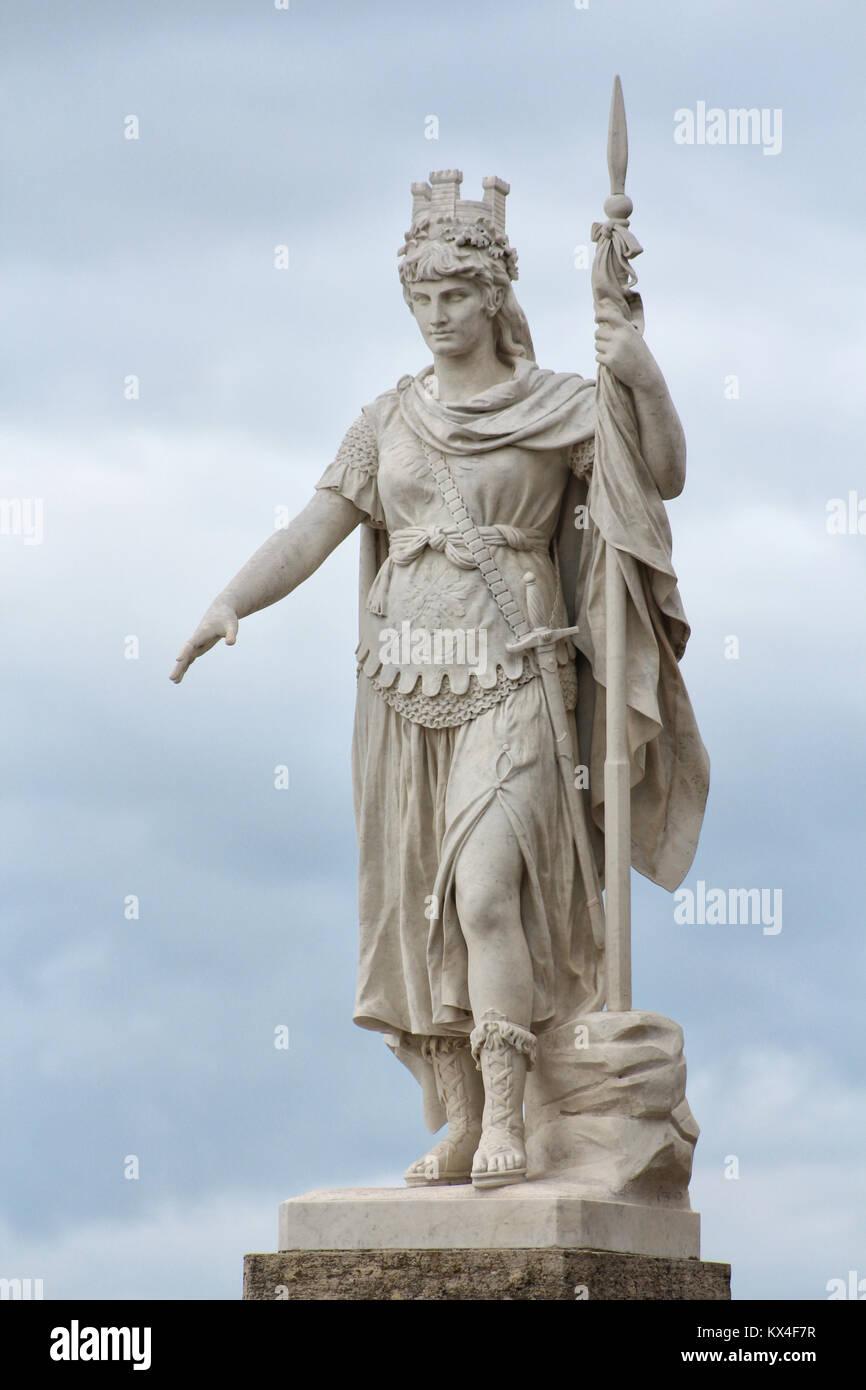 San Marino Republic, Liberty statue, monument of the city - Stock Image