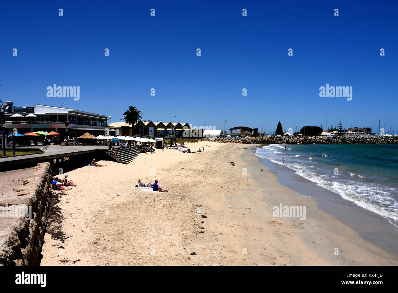 Freemantle Beach with water and sand - Stock Image