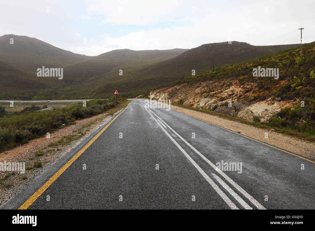 On the Road, Garden Route, South Africa Stock Photo