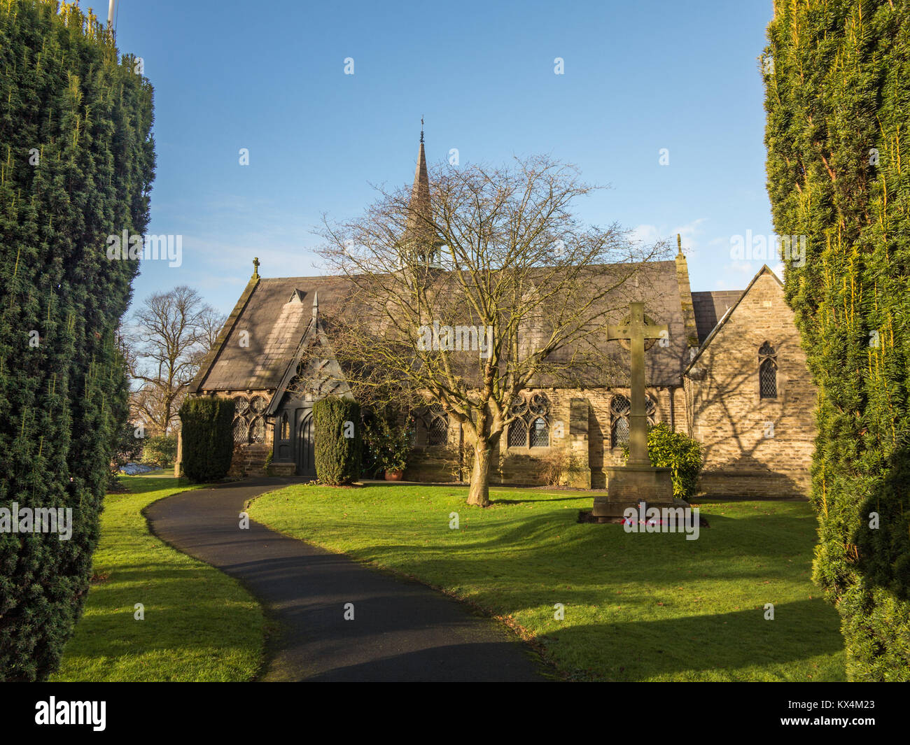 St Marks Church of England church in the Cheshire village of Dunham Massey greater Manchester - Stock Image