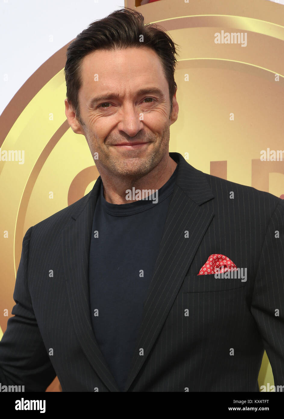 WEST HOLLYWOOD, CA - JANUARY 6: Hugh Jackman, at the Gold Meets Golden 5th Anniversary party at The House On Sunset - Stock Image