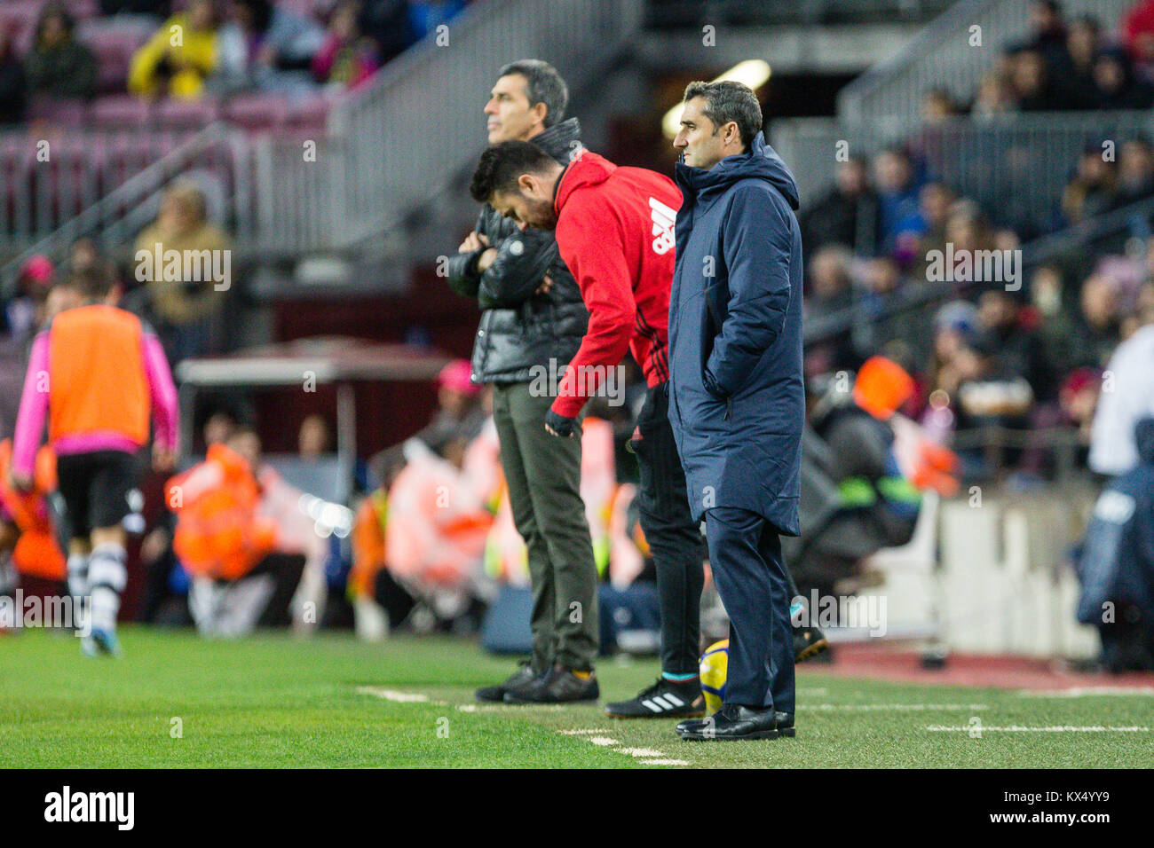 Barcelona, Spain. 07th Jan, 2018. <bc< during the match between FC Barcelona against Levante UD, for the round - Stock Image