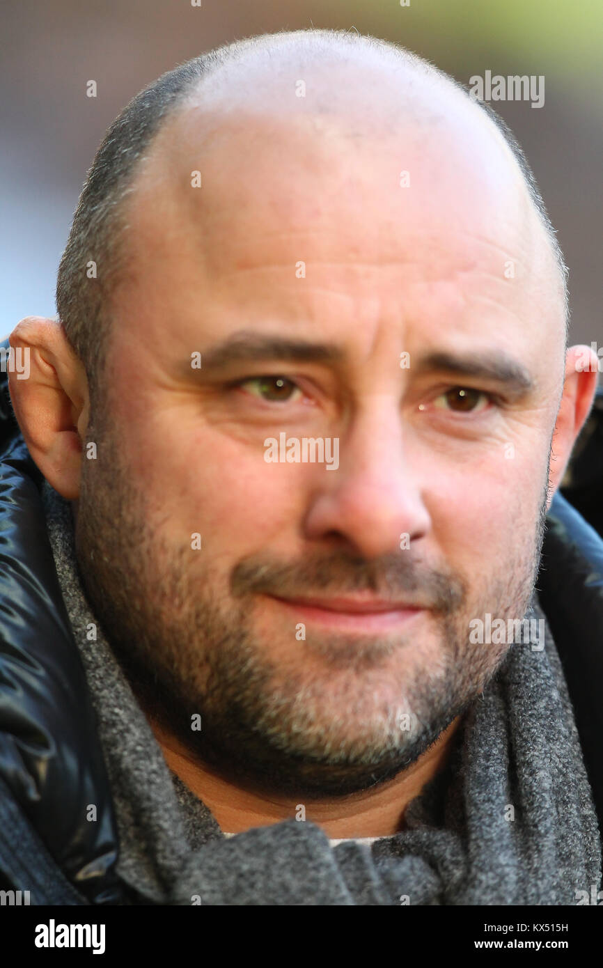 Coventry, UK. Jan, 2018. TV Pundit David Flatman during the Aviva Premiership round13 game between Wasps and Saracens - Stock Image