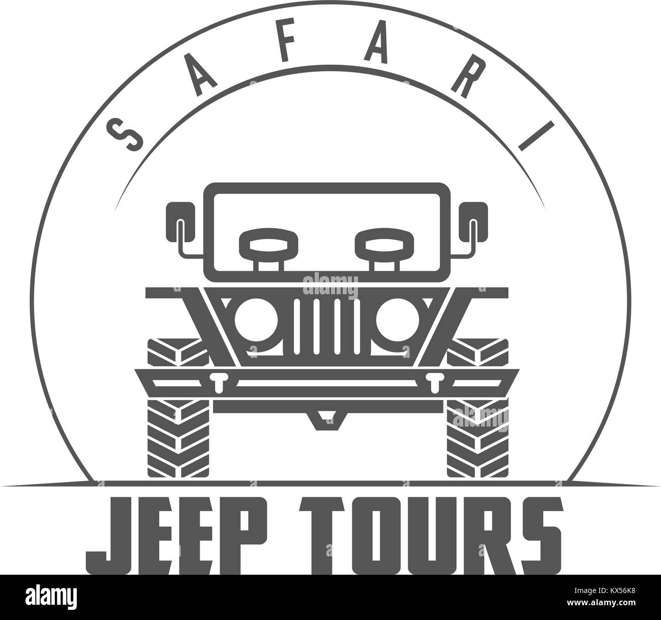 Jeep Tours Safari Expedition Vector Emblem - Stock Vector