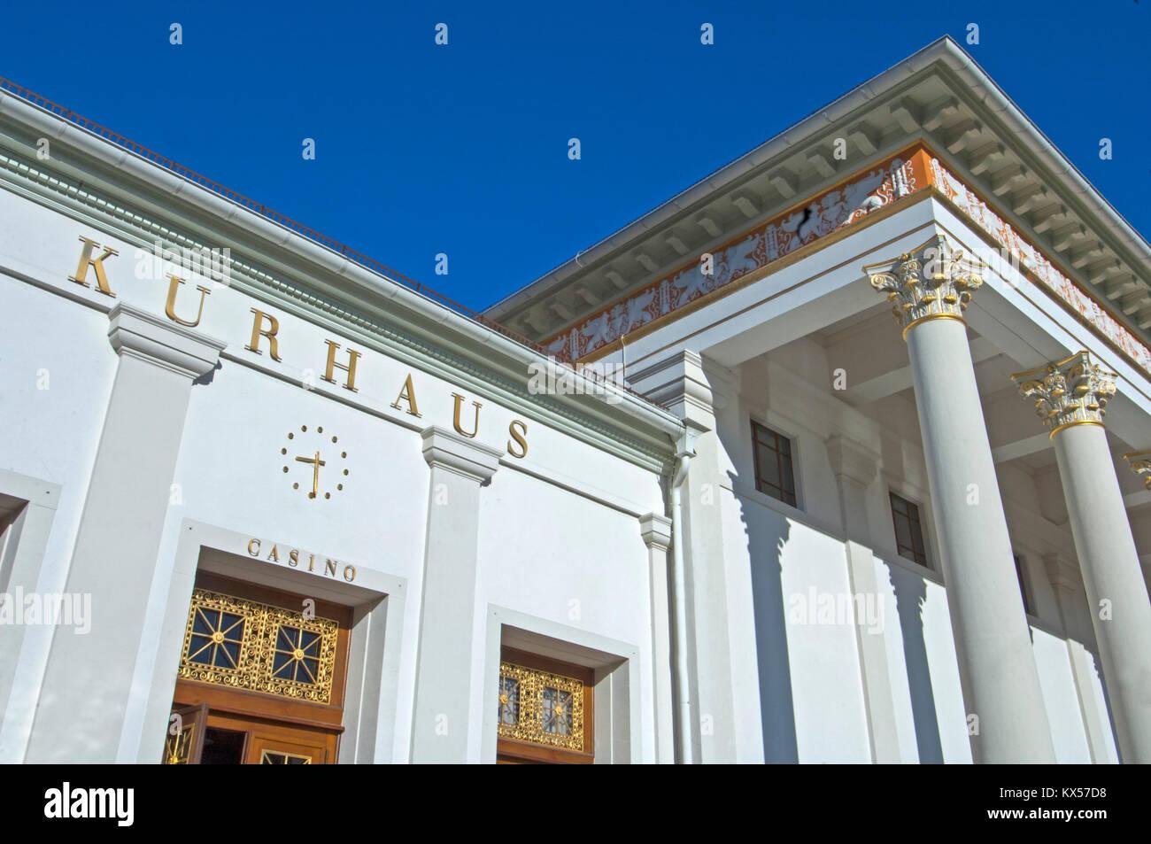 BRD, Baden-Württemberg, Baden-Baden, Kurhaus mit dem berühmten Casino, erbaut 1821-23 von Friedrich Weinbrenner - Stock Image