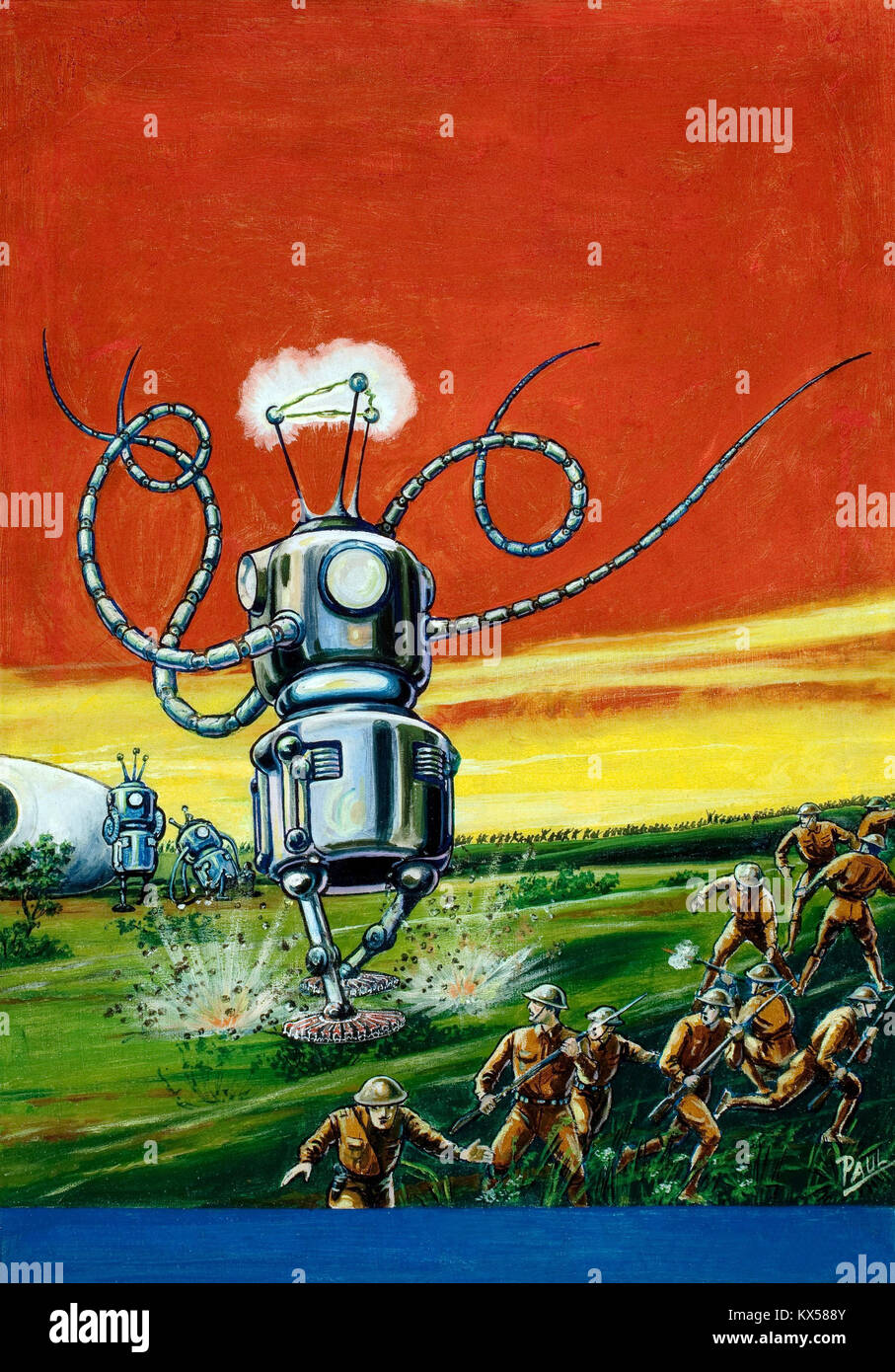 The Robot Aliens - Stock Image