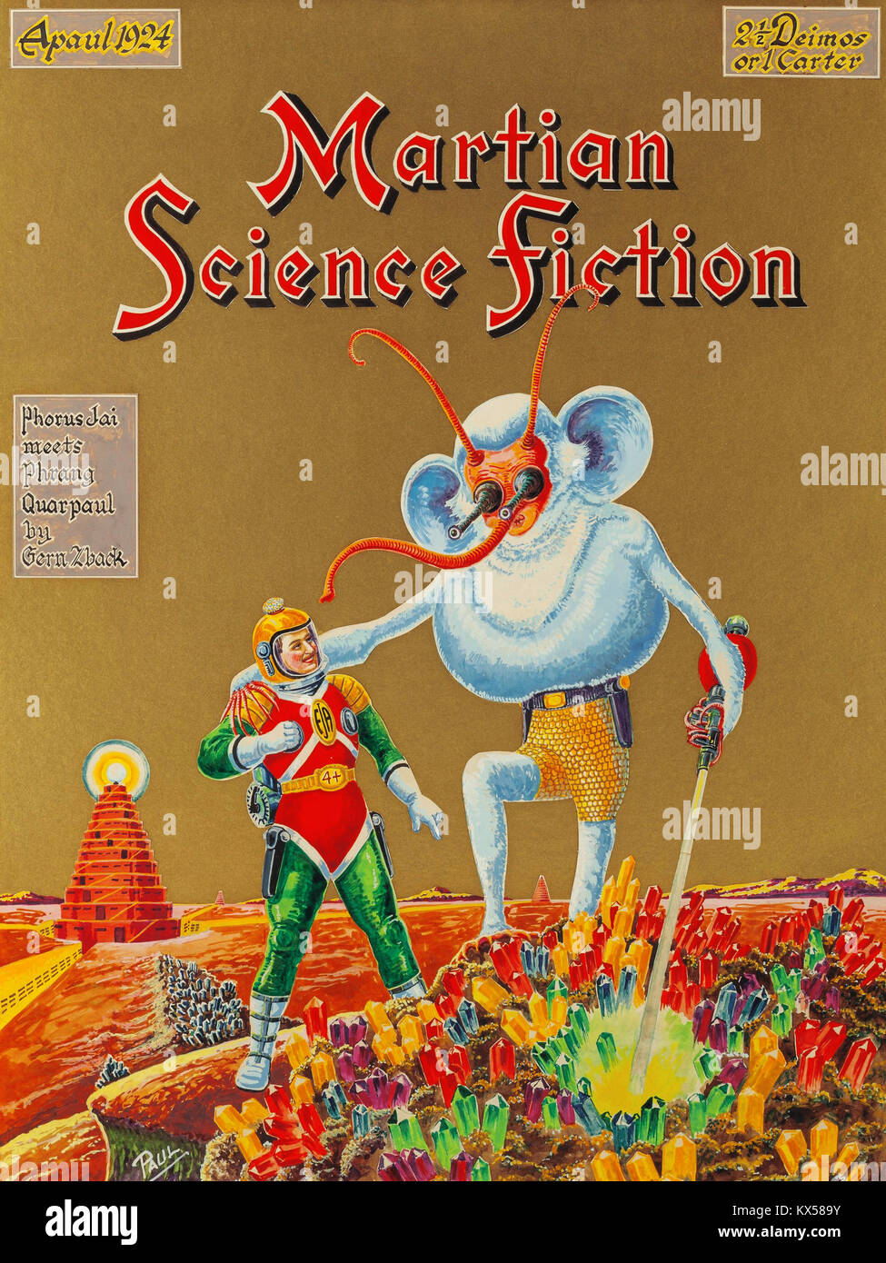 Martian Science Fiction - Stock Image
