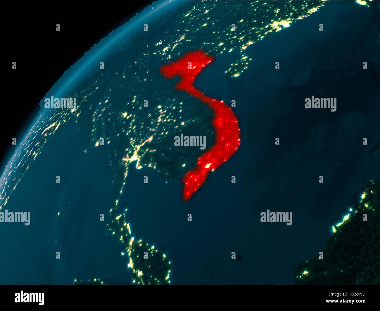 Satellite Map World Night Stock Photos Satellite Map World Night