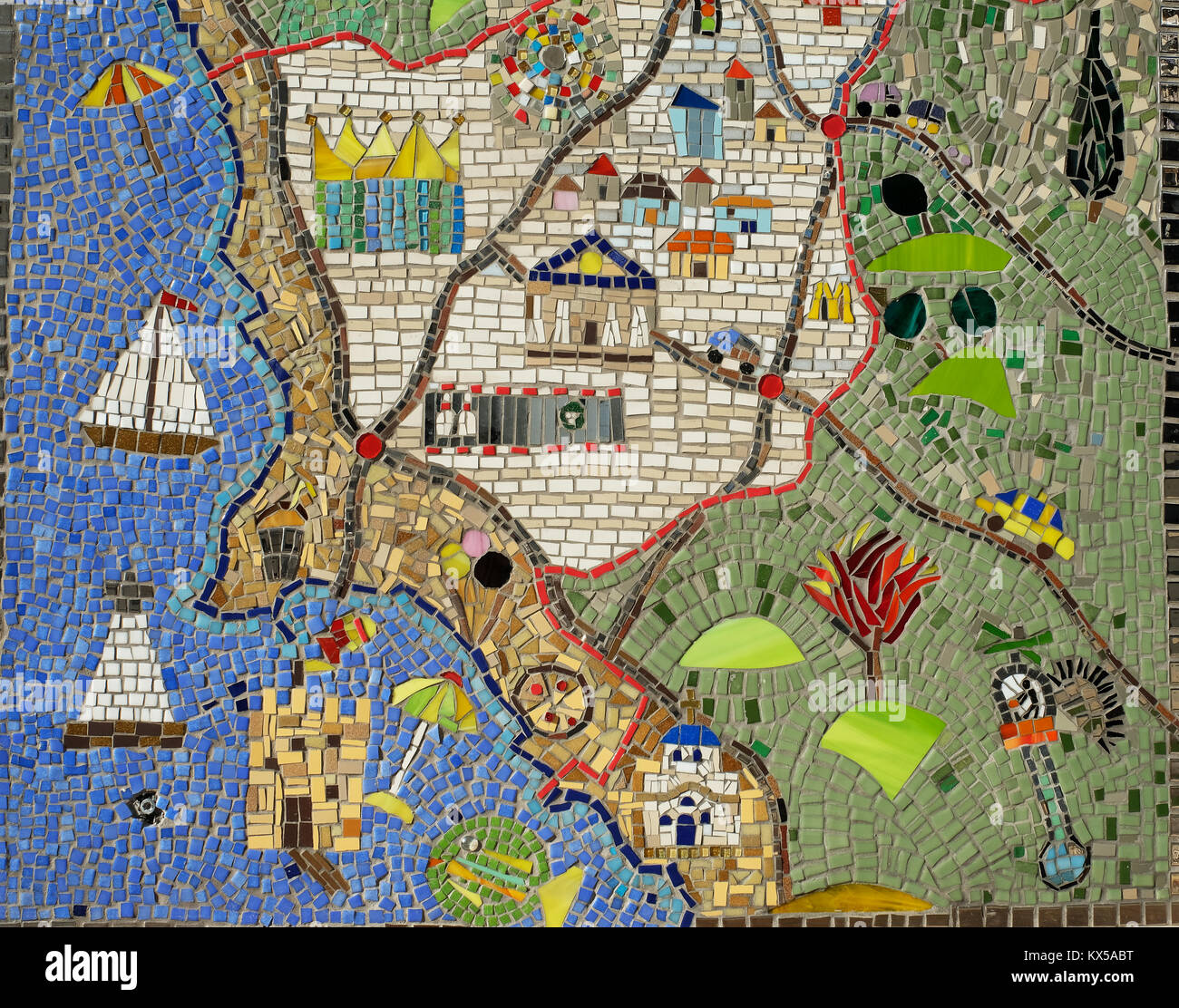 A modern mosaic on a shop wall in paphos showing a map of the town a modern mosaic on a shop wall in paphos showing a map of the town stock photo 170992300 alamy gumiabroncs Gallery