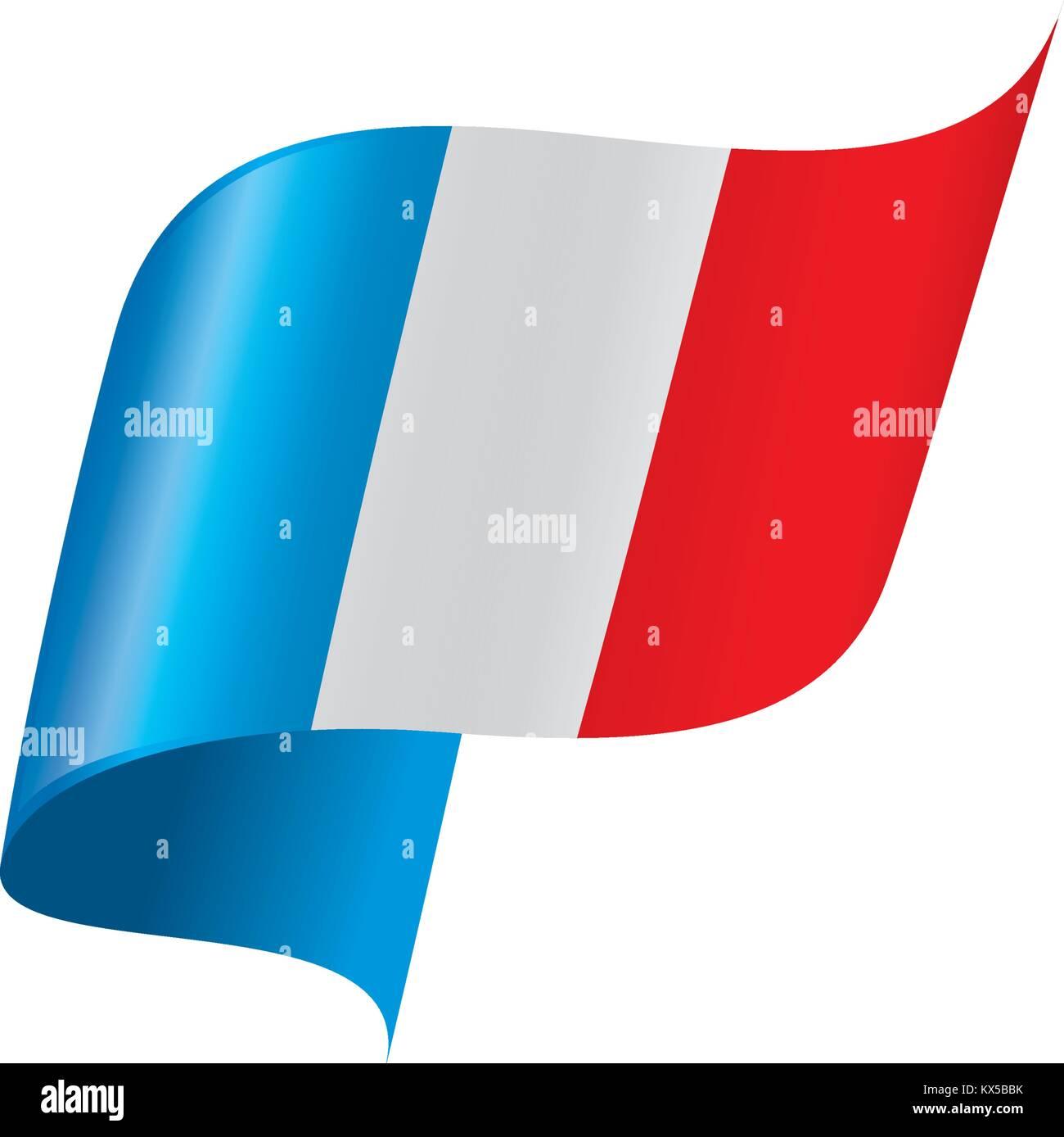 France flag, vector illustration - Stock Image