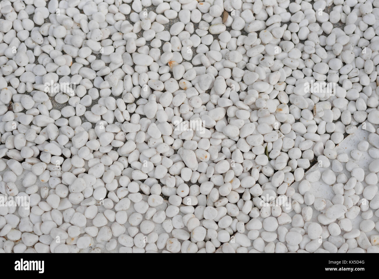 White River Stone Pebbles On Ground For Decorative Garden