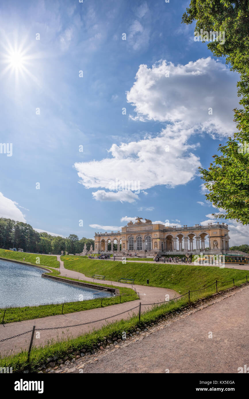 Famous Gloriette in Schonbrunn Palace, Vienna, Austria - Stock Image