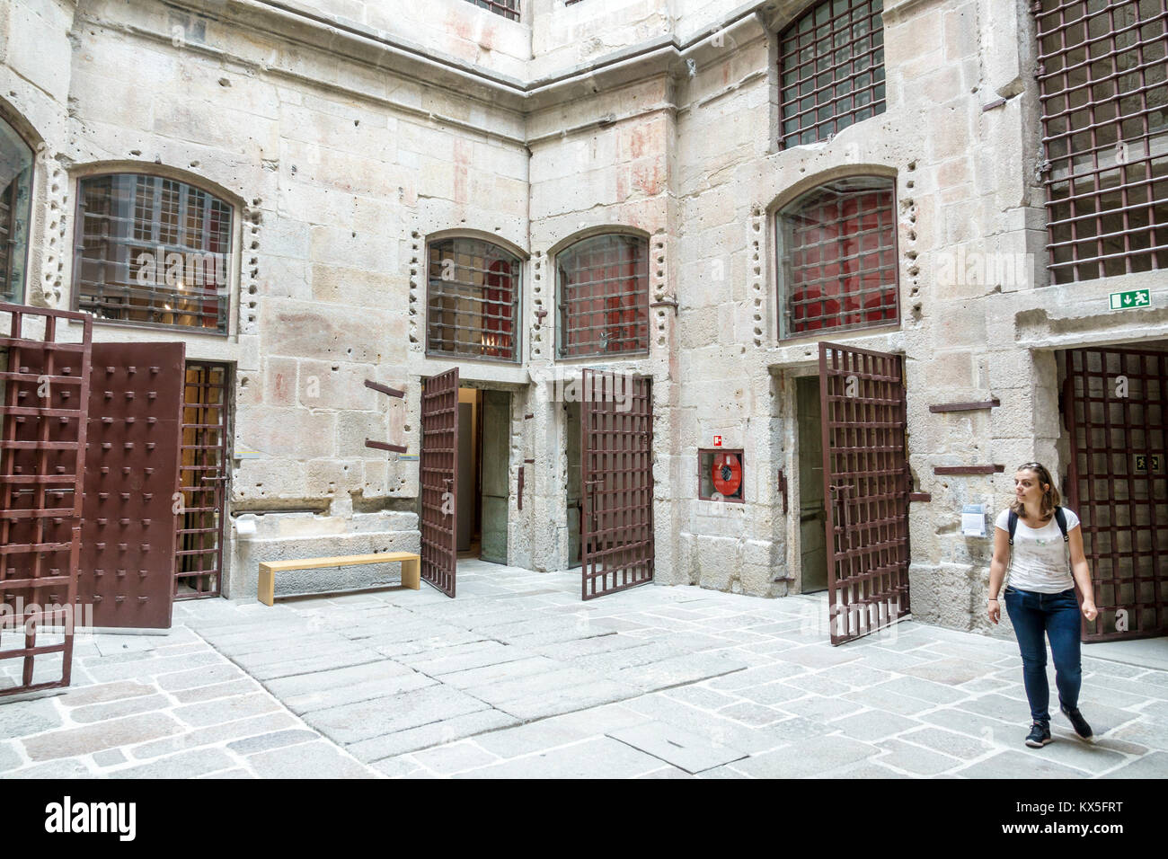 Porto Portugal historical center Centro Portugues de Fotografia Portuguese Photography Center museum old city prison - Stock Image