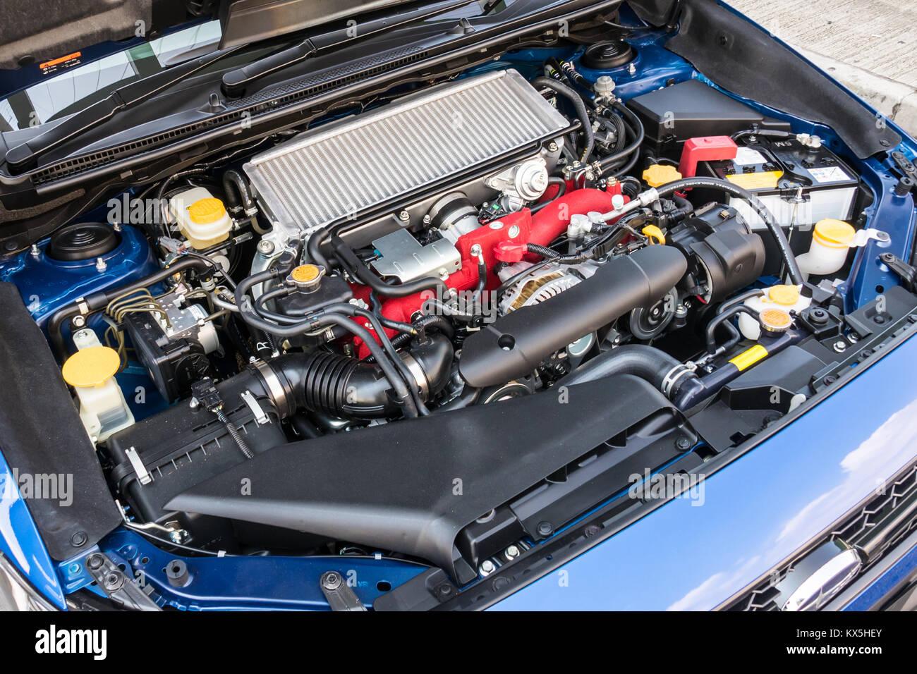 Hong Kong China Sept 11 2017 Subaru Wrx Sti 2017 Engine Sept 11 Stock Photo Alamy