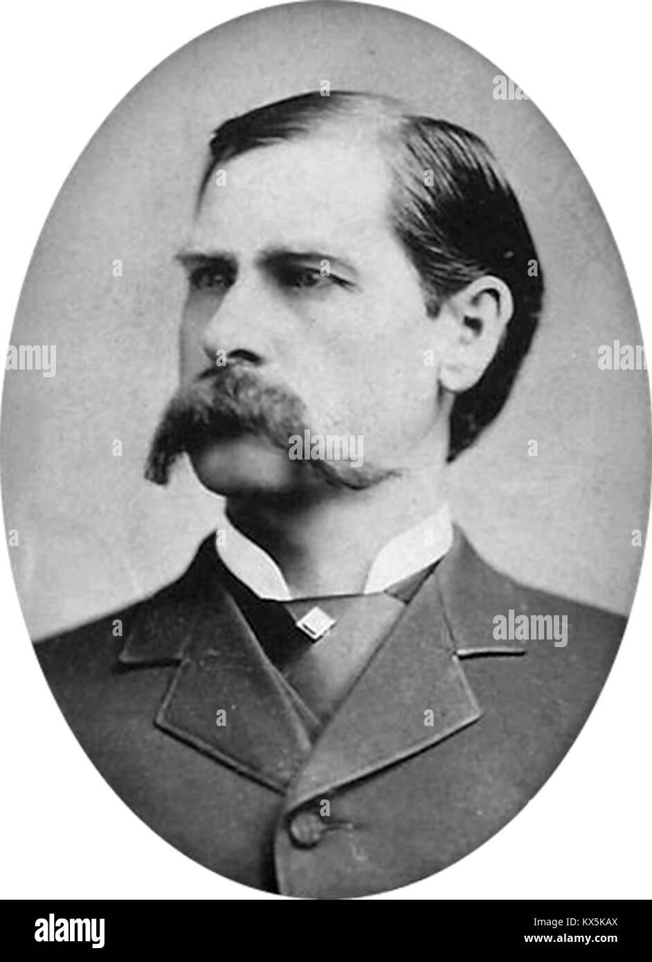 Wyatt Earp, Wyatt Berry Stapp Earp, American Old West deputy sheriff in Pima County, and deputy town marshal in - Stock Image