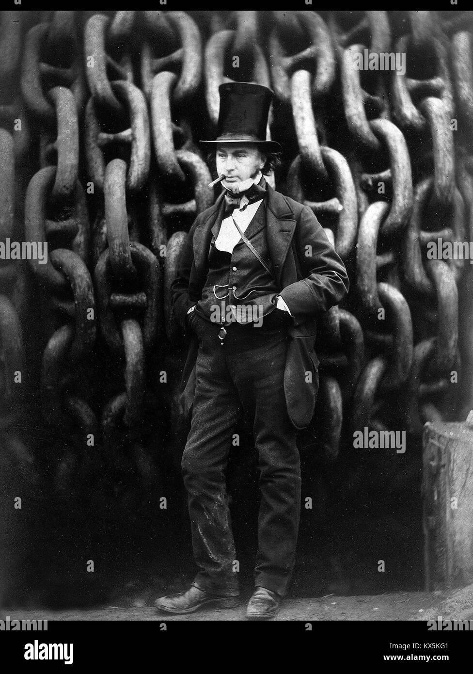 Isambard Kingdom Brunel, English mechanical and civil engineer - Stock Image